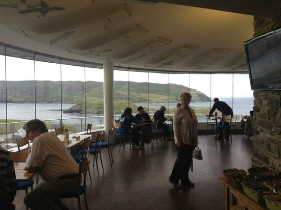 The Sound Visitor Centre Cafe: the vista from inside the Niarbyl Cafe