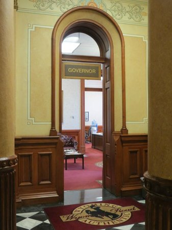 Wyoming State Capitol: The Governor's door was even open!!