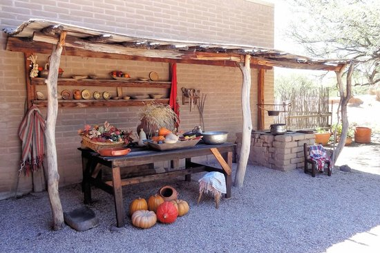 Tubac Presidio State Historic Park : The patio of the Presidio museum is a handsome setting for Living History displays.