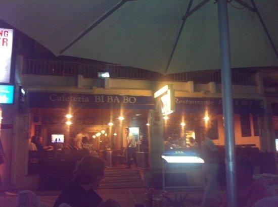 Bibabo Restaurante : Where we sat