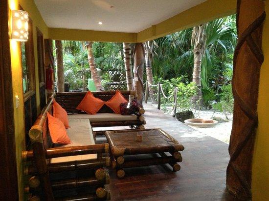 Cabanas La Luna: Porch At Garden Suite