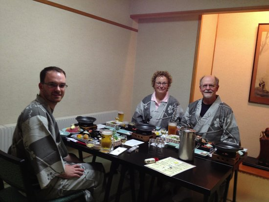 Zao Onsen Tsuruya Hotel: Our family dinner