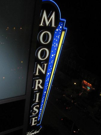 Moonrise Hotel : taken from our corner suite window!