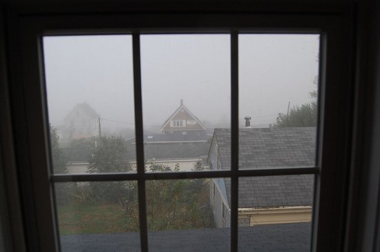 Home Port Inn: View from Room 7 early morning fog