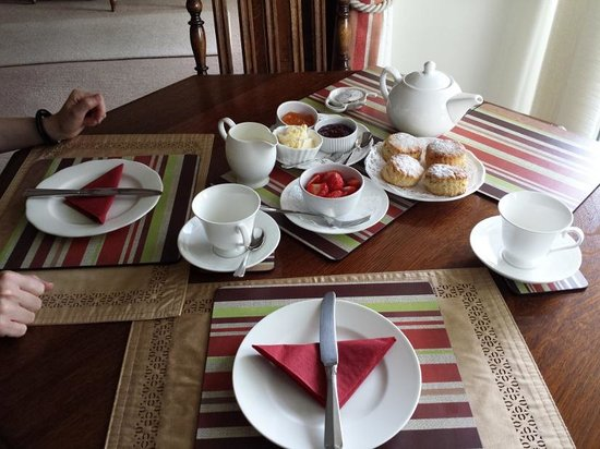 Blankednick Farm: Cornish cream tea