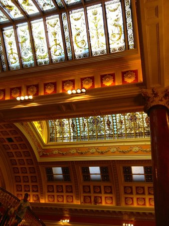 The Bank on College Green: The Bank - stained glass skylights