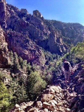 La Luz Trail: Part of the rock slide trail