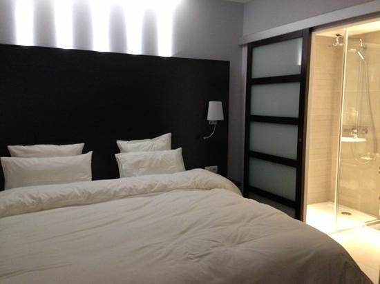 Hôtel Renaudot : un grand lit douillet ch 102