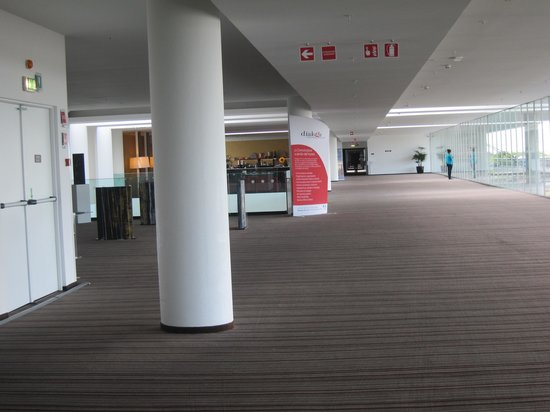 Sheraton Milan Malpensa Airport Hotel & Conference Centre : a long walk span from the elevator foyer to room area