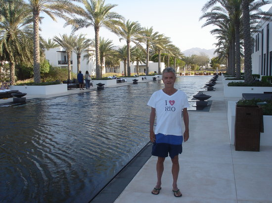The Chedi Muscat – a GHM hotel : Secluded pool by the Spa at Sunset