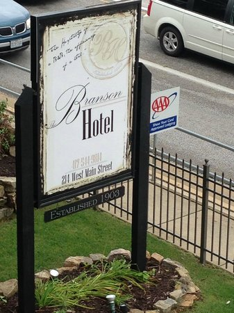 Sign for The Branson Hotel
