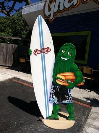 Gherkin's Sandwich Shop : mascot