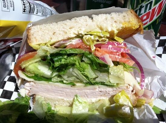 Gherkin's Sandwich Shop : Turkey and pepper jack
