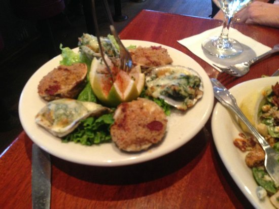 Brophy Bros. : Brophy Bros let us split order with Garlic Baked Clams and Oysters Rockefeller
