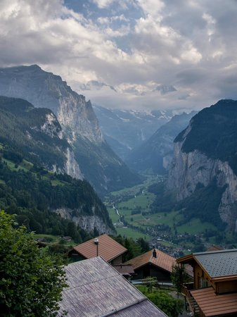 Hotel Bellevue: View into the Lauterbrunnen Valley from near the hotel