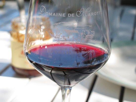 Domaine de Marotte: eigen glazen; heerlijke wijn