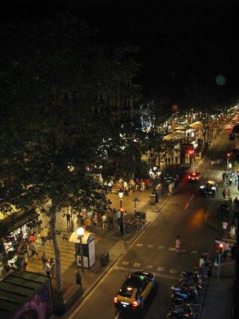Hostal Las Flores: night scene from balcony