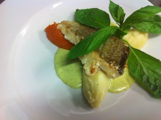 L'Ardoise : Dos de cabillaud sauce basilic