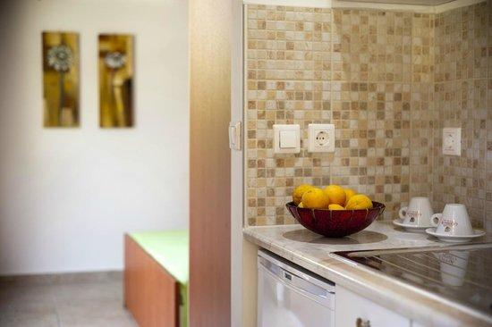 Nikolas Suites: κουζινα