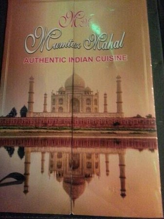 Mumtaz Mahal: menu