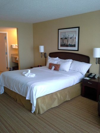 Courtyard Virginia Beach Oceanfront/South: King size bed, with room enough for a roll away... great size
