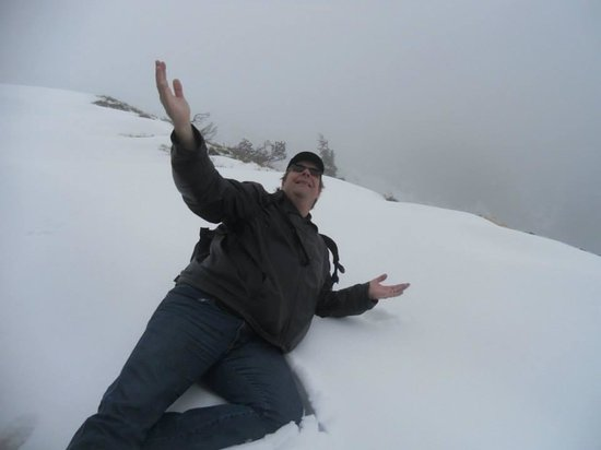 Wendelstein: Snow at the top!