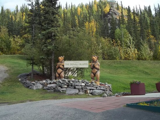 Denali Bluffs Hotel: Welcome Bears