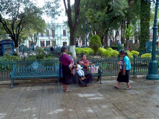 Meson de la Cofradia: Plaza scene - San Cristobal