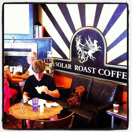 Solar Roast Coffee: That's my notoriously picky son, finishing off my meal after finishing off his own. :)