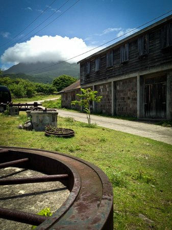 View of Nevis Peak from The New River Estate Sugar Mill