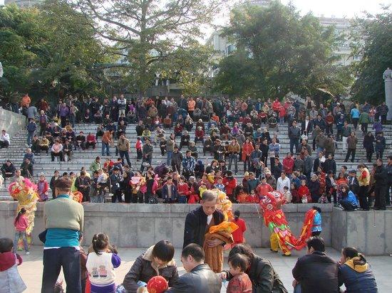 Jiangbin Park of Liuzhou : Local People's Performance