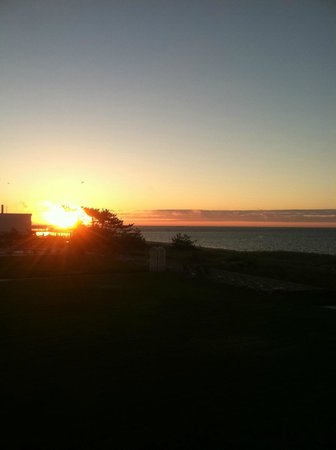 Surf and Sand Beach Motel: View from Balcony - Sunrise over ocean