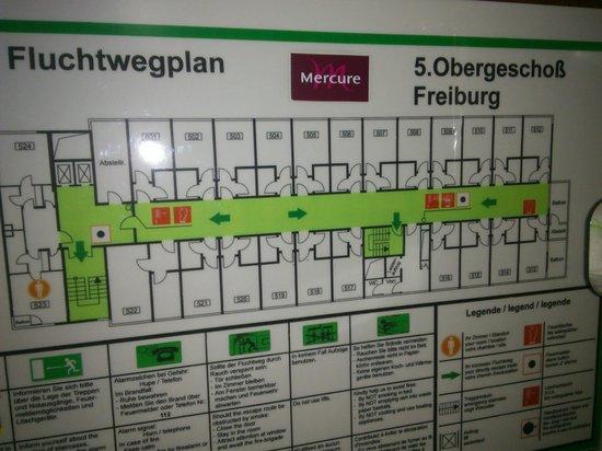 Mercure Hotel Freiburg am Muenster: Zimmer 523, Flurplan