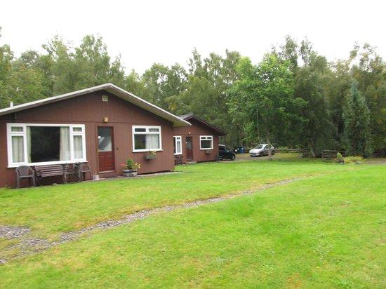 Torcroft Lodges: die drei Häuschen nebeneinander