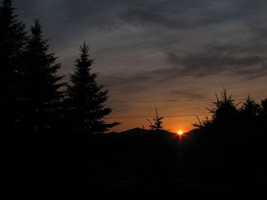 Lac-Drolet, Kanada: Levé de soleil