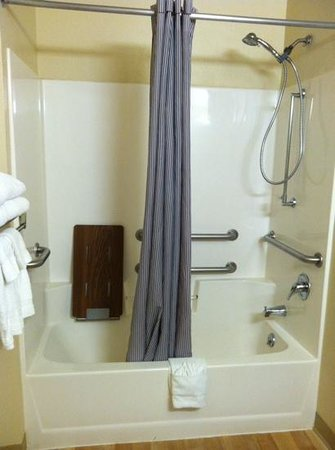 Extended Stay America - Madison - Junction Court: ADA-compliant shower
