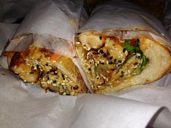 Luke's Inside Out: Spicy szechuan fried chicken sandwich