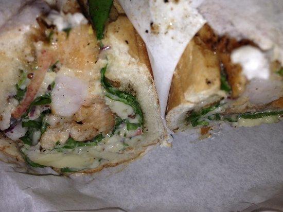Luke's Inside Out: shrimp sandwich