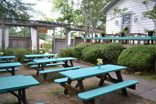 Picnic Tables - Picture of The Beer Garden Restaurant, Starkville ...