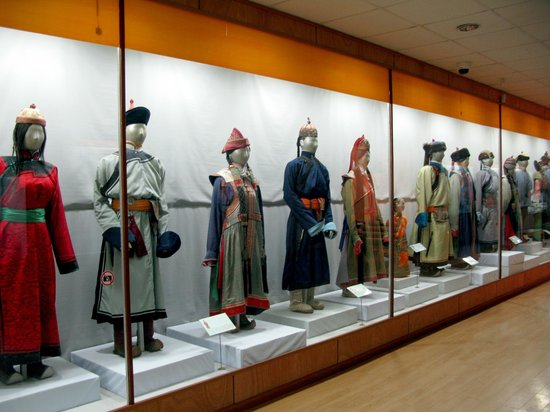 National History Museum: Historical costumes from various Mongolian groups