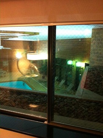 Four Points by Sheraton Milwaukee North Shore : View of the Indoor Pool from our Room