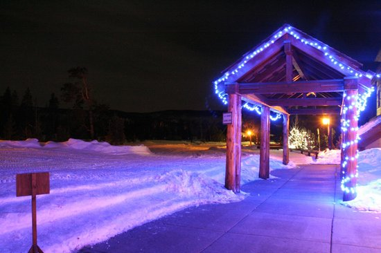 Old Faithful Snow Lodge and Cabins: Outdoors at night