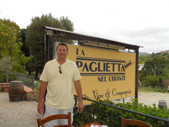 San Polo in Chianti, Italien: Time for our pizza lesson.