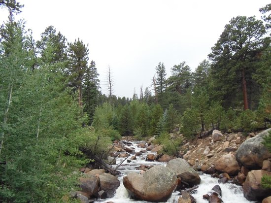 Aspenglen Campground, Rocky Mountain National Park : River right by campground