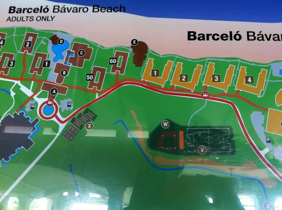 Barcelo Bavaro Palace Part Of Map