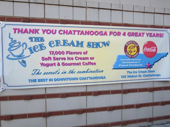 Sign Outside The Ice Cream Show