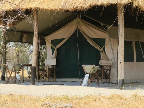 Whistling Thorn Tented Camp: Tent entrance