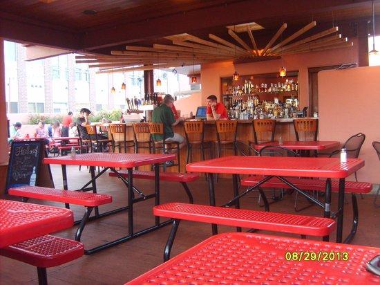 El Azteco: bar outside on balcony