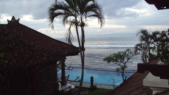 The Rishi Candidasa Beach Hotel: view from veranda