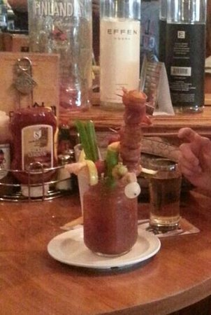 Sobelman's Pub & Grill: bloody masterpiece with bacon wrapped jalapeno cheese balls